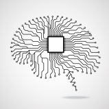 Brain. Cpu. Circuit board. Vector illustration. Eps 10